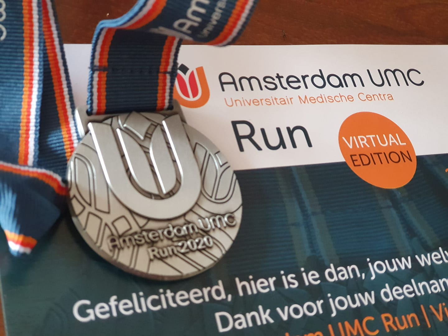 [CAS 2] Amsterdam UMC Run | Virtual Edition