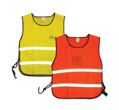 Safety waistcoats with imprint
