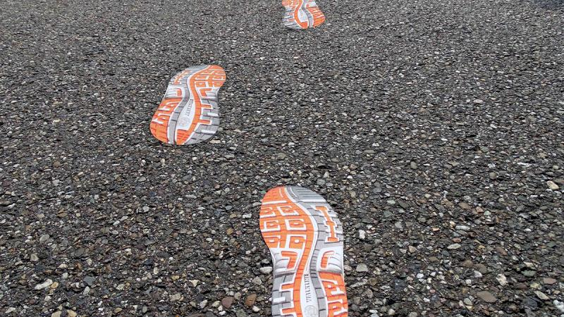 Asphalt stickers