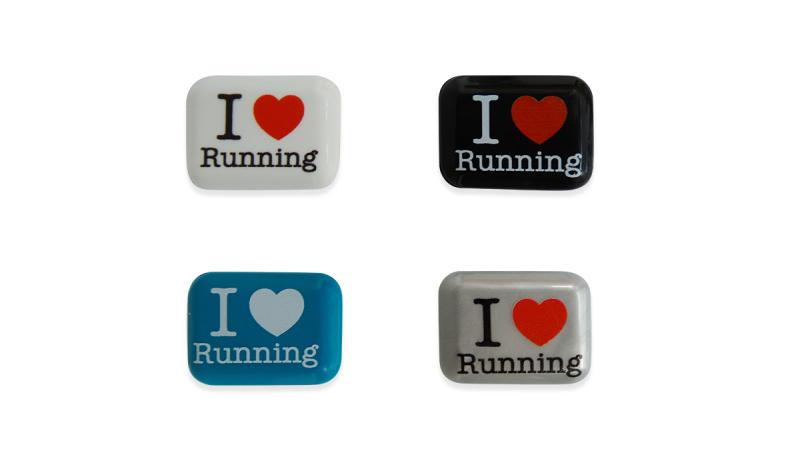 BibBits: Aufdruck 'I love running'